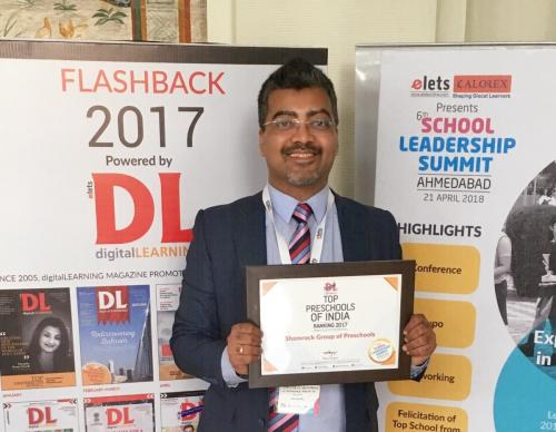 "Shemrock gets the Title of ""Top Preschools of India"" by Digital Learning Magazine"